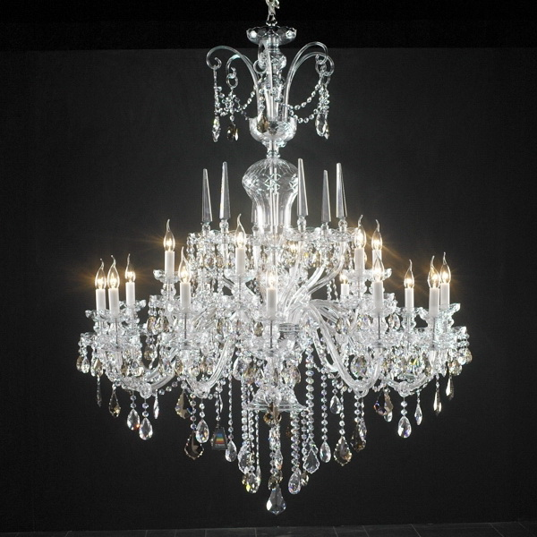 Antique Italian Crystal Chandelier 3d model
