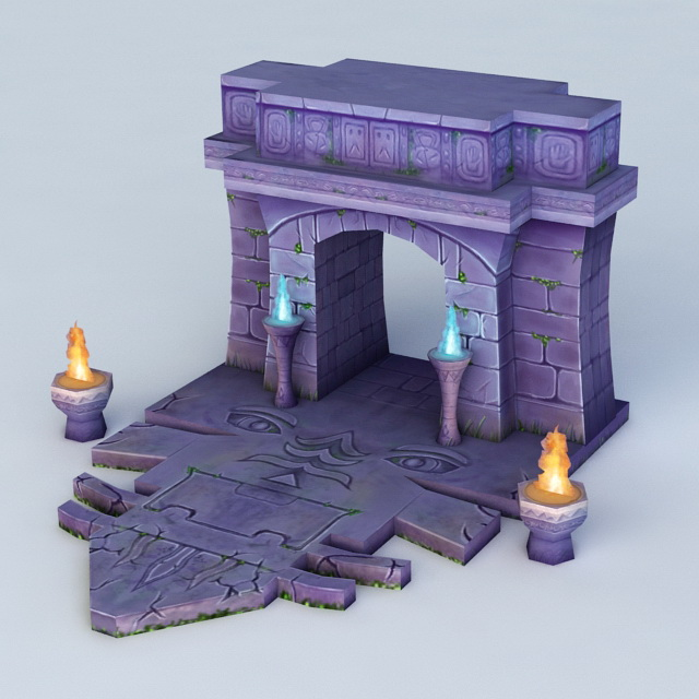 Door of The Tomb 3d model