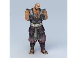 Male Warrior Monk 3d model