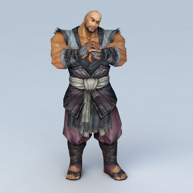 Male Warrior Monk 3d Model 3ds Max Files Free Download