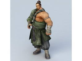 Ancient Kung Fu Master 3d model