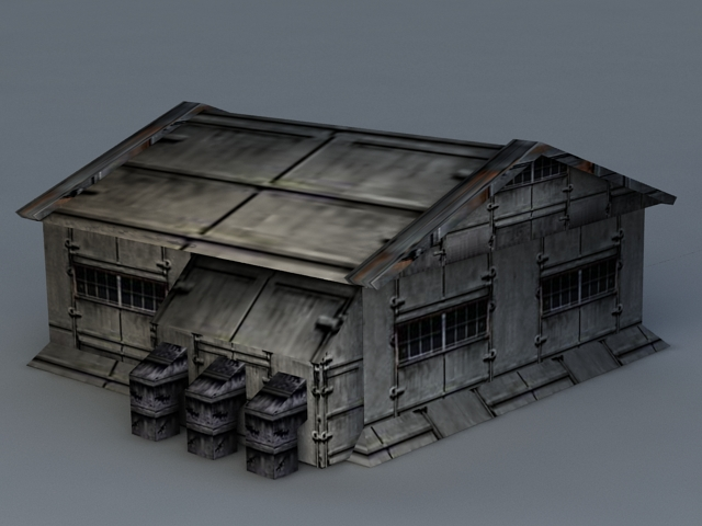 Sci-Fi Barrack 3d model