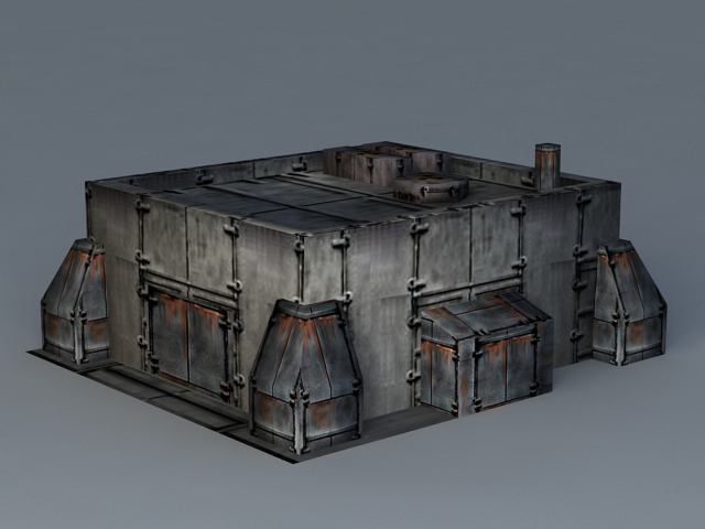 Sci-Fi Graving Dock 3d model - CadNav