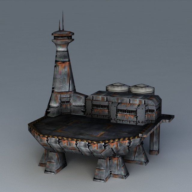 Sci-Fi Landing Platform 3d model