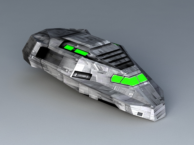 Sci-Fi Transport Shuttle 3d model