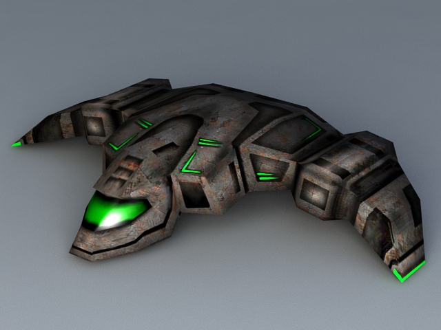 Sci-Fi Space Fighter 3d model 3ds Max files free download ...