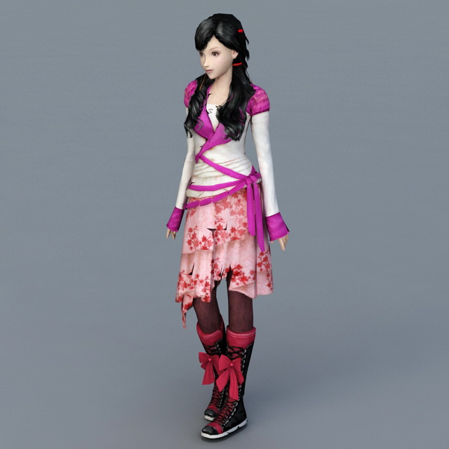 Chinese Kung Fu Girl 3d model