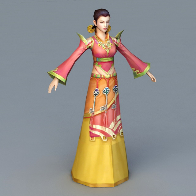 Traditional Korean Woman 3d model