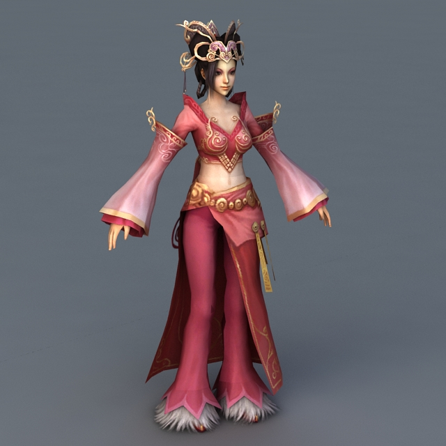 Medieval Chinese Noble Lady 3d model