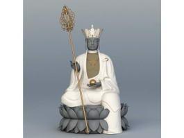 Xuanzang Buddha Statue 3d model