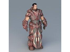 Futuristic Male Warrior 3d model