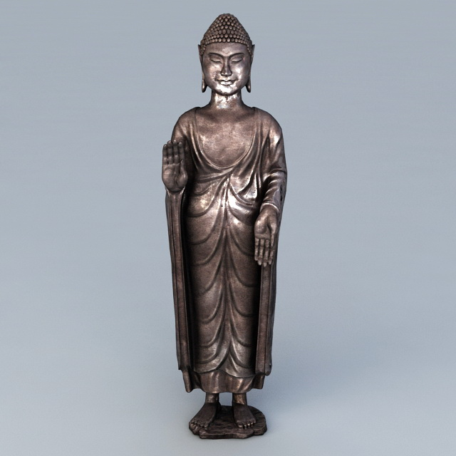 Antique Bronze Buddha 3d model