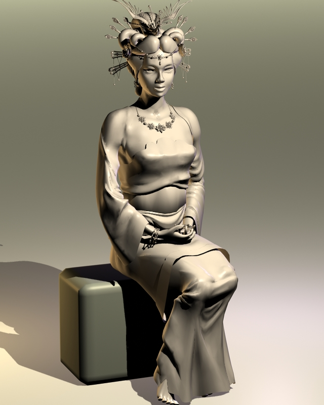 Lady of the Chinese Imperial Court 3d model
