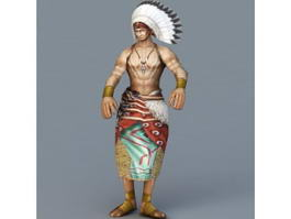 Native American Indian Chief 3d model