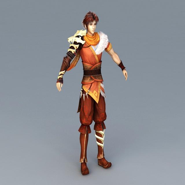 Anime Guy Warrior 3d model
