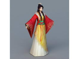 Tang Dynasty Woman 3d model
