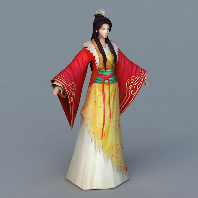 Tang Dynasty Woman 3d model