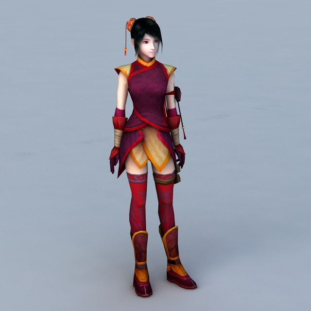 Traditional Chinese Teenage Girl 3d model