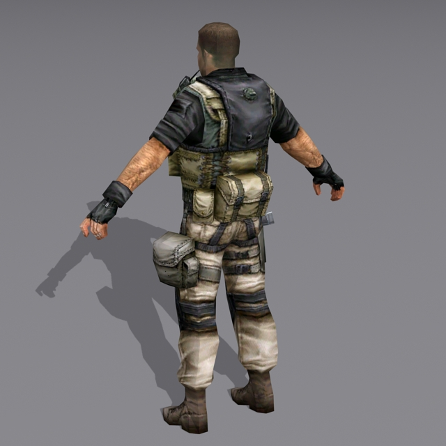Us Military Special Forces Soldier 3d Model 3ds Max Files