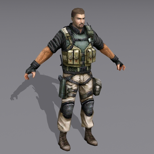 Us Military Special Forces Soldier 3d model