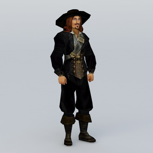 Medieval Pirate Captain 3d model