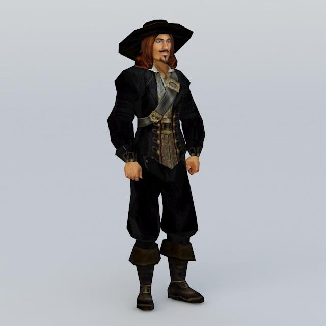 14a3a64b80463 Pirate 3d model free download - cadnav.com