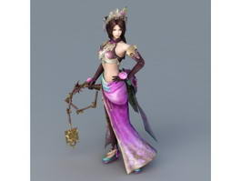 Ancient Chinese Warrior Woman 3d model