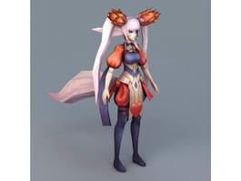 Anime Fox Girl 3d model