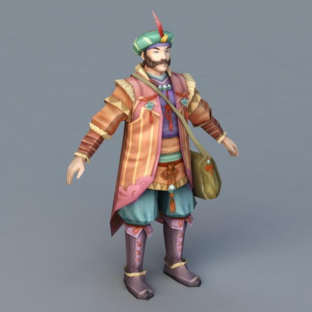 Ancient Persian Merchant 3d model