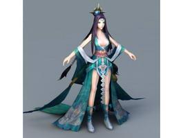 Moon Goddess 3d model