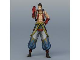Young Guy Fighter 3d model