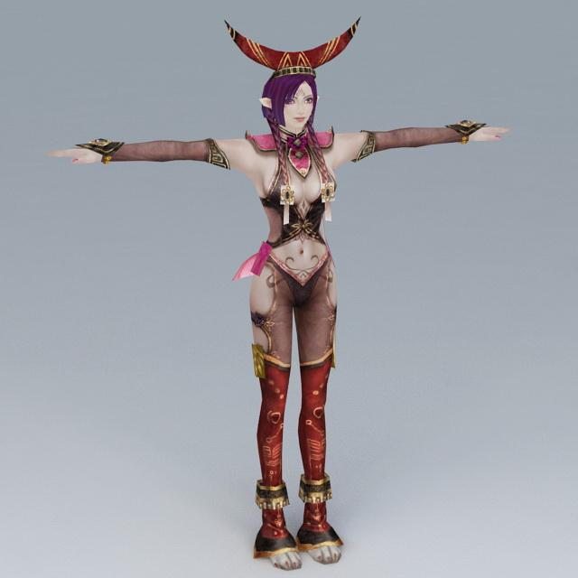 Beautiful Enchantress 3d model