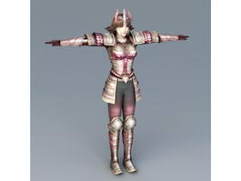Japanese Samurai Girl 3d model