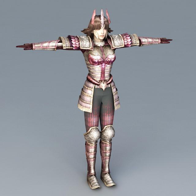 samurai 3d model free download