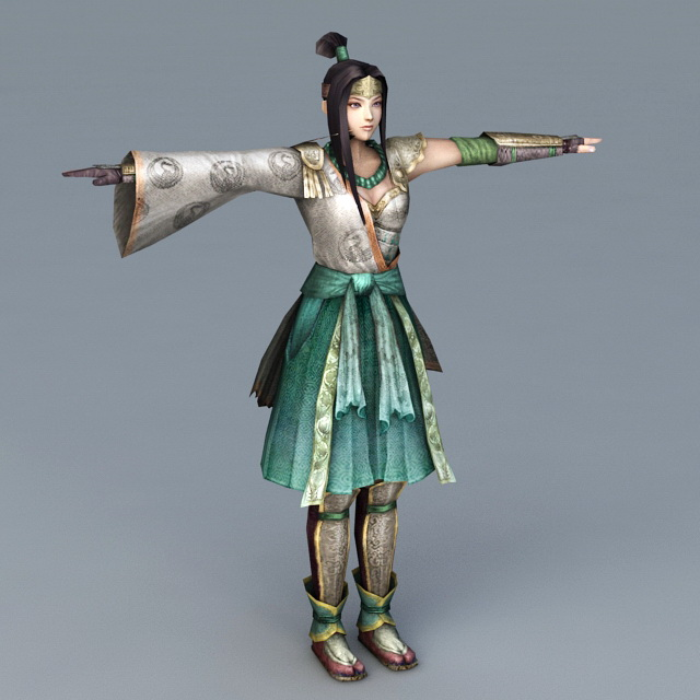 Young Warrior Girl 3d model
