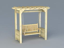 Garden Arbor with Swing 3d preview