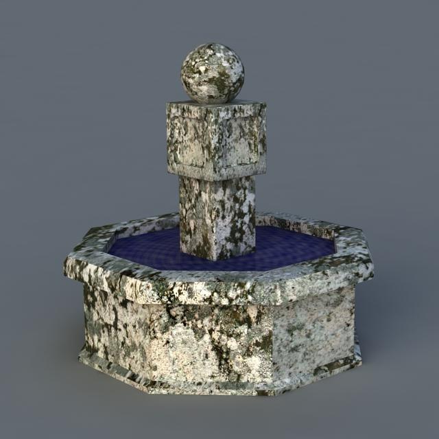 Vintage Fountain 3d model