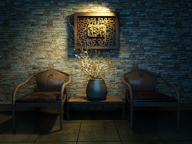 Chinese Style Chairs 3d model