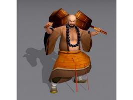 Shaolin Warrior Monk 3d model