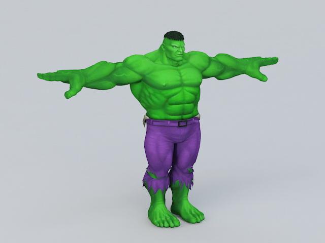Marvel Comics Hulk 3d model 3ds Max,Object files free ...