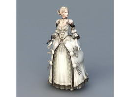 Pretty Colonial Lady 3d model