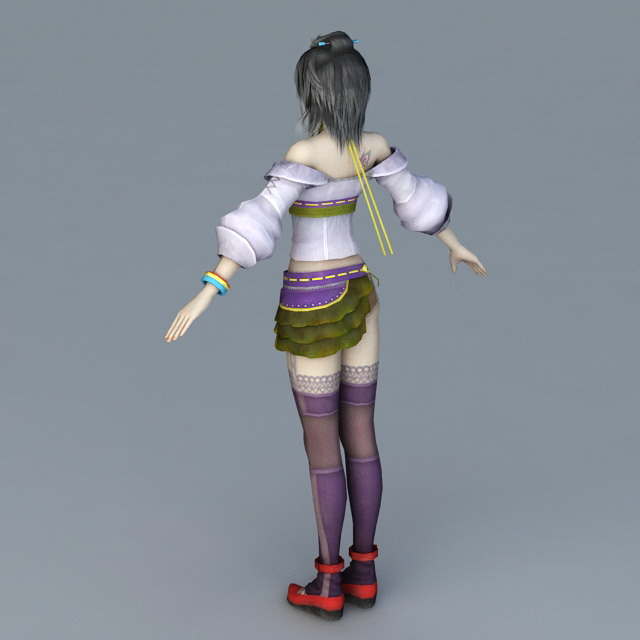 FF13 Lebreau 3d model 3ds Max,Object files free download
