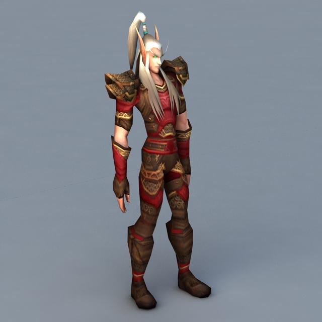 Blood Elf Male 3d model