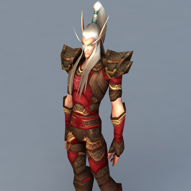 Blood Elf Male 3d Model 3ds Max Files Free Download