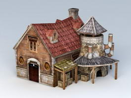 Medieval Blacksmith Workshop 3d model