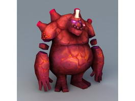 Lava Monster Creature 3d model
