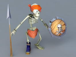 Cartoon Skeleton Warrior 3d model