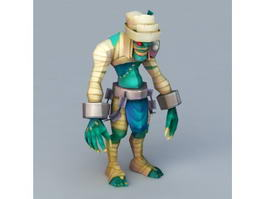 Cartoon Mummy Monster 3d model