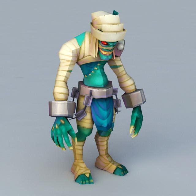 Cartoon Mummy Monster 3d model