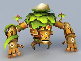 Treant Cartoon Monster 3d model